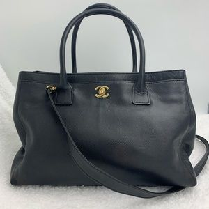 Chanel Cerf Caviar Leather Tote